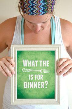Funny Kitchen Art Print Digital Sign Poster door SmartyPantsStudio, $20.00