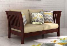3 Seater Sofa : Buy Three Seater Sofa Online in India upto Off Living Room Tv Unit Designs, Living Room Sofa Design, Home Room Design, Home Decor Furniture, Furniture Design, Wooden Furniture, Furniture Plans, Indian Room Decor, Buy Sofa Online