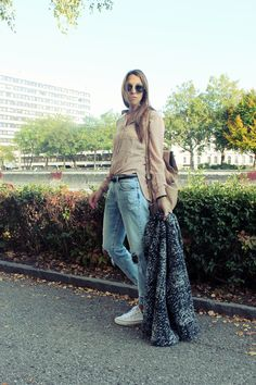 Kitschick_Herbstlook1 Bell Bottoms, Bell Bottom Jeans, Duster Coat, Red, Pants, Jackets, Beauty, Shopping, Fashion