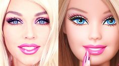 How To Turn Into A Barbie Doll: MakeUp Transformation, that's pretty fun to see: More