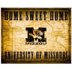 University of Missouri Home Sweet Home Photograph Print 16x20