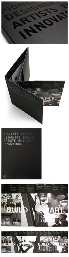 a design-build construction company with more than 50 years of experience. In celebration of their golden year, this book was designed to showcase the highlights and hardships from 1958-2008. Each page contains elements that continue from