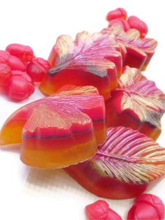 FALL AUTUMN SOAP Leaves Fall Shimmer Scented in by thecharmingfrog, $7.00