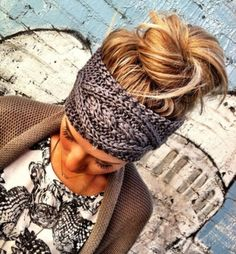 Messy Bun & Knitted Headband