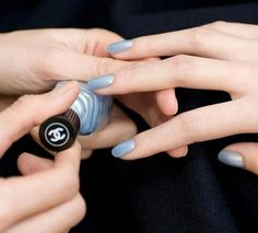 Frosty blue nail polish by Chanel. (Janelle McCulloch's Library of Design: Is Periwinkle The Perfect Blue?)