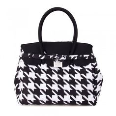 Save My Bag Icon Lycra Damenhandtasche Piet de Pule Maxi (schwarz weiß)