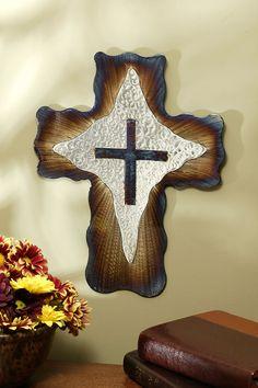 "8"" Jeweled Steel Diamond Cross – Celebrate Faith"