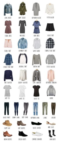 spring capsule wardrobe I like these maybe throw some golden yellows and it's perfect