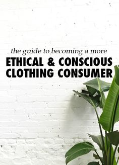 The Guide To Becoming A More Ethical / Socially Conscious Clothing Consumer
