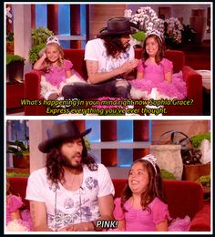 Russell Brand with Sophia Grace and Rosie on The Ellen Show. I remember this :)