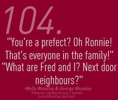 HP challenge day 19 - Funniest quote is definetly from the twins! they've got some of the best quotes. There´s are many more fun quotes, but this is one of the funniest, I think. What you think? What is the funniest quote in HP? Harry Potter Quotes, Harry Potter Love, Harry Potter Fandom, Hp Quotes, James Potter, Must Be A Weasley, Yer A Wizard Harry, Weasley Twins, Mischief Managed