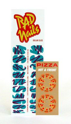 Food Court: Rad Nails Pizza Nail Decals