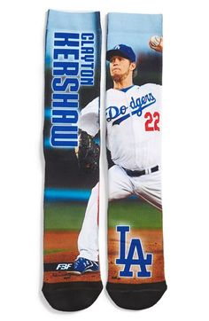 Men's FBF Originals 'Los Angeles Dodgers - Clayton Kershaw' Socks - Blue