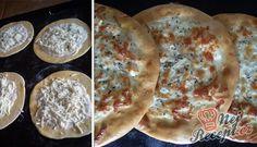 Pita chlebíček se sýrem a jogurtem   NejRecept.cz Ham, Pancakes, Bakery, Tacos, Pizza, Bread, Breakfast, Ethnic Recipes, Basket