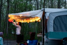 Avid campers Maria and John recently purchased a 1995 pop-up camper, complete with decor that's typical of most campers and RVs, in various shades of mauve and tan. Instead of settling with the (le...