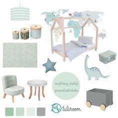 Szukasz inspiracji na miętowy pokój dla dziecka? Sprawdź nasze propozycje: łóżko domek w naturalnym drewnianym kolorze w połączeniu z naklejką Mapa świata, miętowym fotelikiem Somebunny i innymi dodatkami w kolorze mięty.  Po więcej inspiracji zapraszamy na stronę tuliroom.pl Kids Room, Rugs, Home Decor, Farmhouse Rugs, Room Kids, Kidsroom, Interior Design, Home Interior Design, Floor Rugs