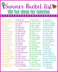 Summer Bucket List, Summer Bucket List Ideas, Summer Bucket List Ideas for Families, Summer Bucket List Printable