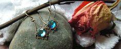 Vintage Style Earrings Blue and Emerald Huge Sale  #ArtistiqueJewelry