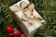 Almond Ricotta Bars Kringle lovers — and cream cheese fans — will love these rich, elegant treats. Christmas Cooking, Christmas Desserts, Christmas Treats, Christmas Planning, Christmas Eve, Holiday Cookie Recipes, Holiday Cookies, No Cook Desserts, Dessert Recipes