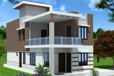 House Plan House Outside Design, House Front Design, Small House Design, Modern House Design, Duplex House Plans, Modern House Plans, Small House Plans, 2 Storey House Design, Duplex House Design