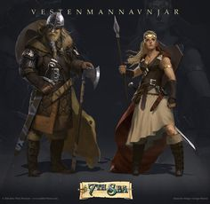 ArtStation - 7th Sea: second edition - Vestenmannavnjar female, giorgio baroni