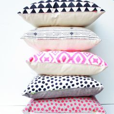 love the graphics on these pillows from earth cadets