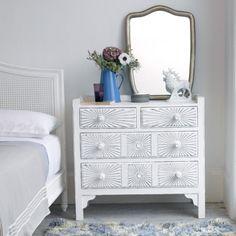 Metal Venice mirror in bedroom