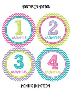 Baby Monthly Stickers INSTANT DOWNLOAD Month Sticker Baby Girl DIY Printable Pdf Newborn Infant Photo Sticker Baby Stickers 293