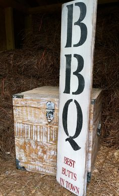 Rustic Wood Sign BBQ Best Butts In Town Outdoor by OconeeSignShack