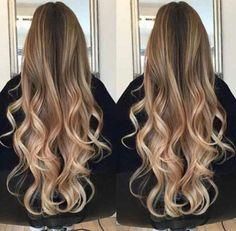 омбре на длинные волосы русые фото