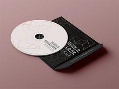 PSD CD Disk Sleeve Mock Up | Mockup Land | trendy Simple.