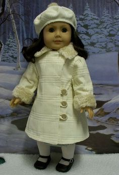 1930's Winter White Corduroy Coat and Tam by Keepersdollyduds, via Flickr