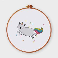 Cat Unicorn cross stitch pattern funny dog puppy baby easy cross stitch kit
