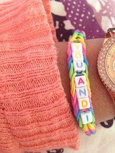 Letter armband
