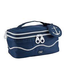 This Navy Blue Towboat Cosmetic Case is perfect! #zulilyfinds