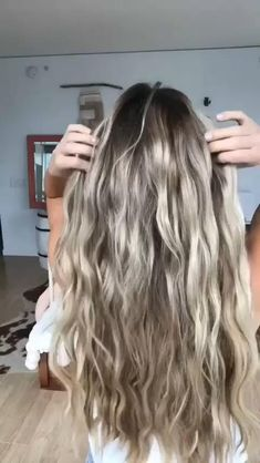 Hair Up Styles, Medium Hair Styles, Curl Styles, Style Hair, Easy Hairstyles For Long Hair, Wedding Hairstyles, Thick Wavy Haircuts, Messy Ponytail Hairstyles, Curls For Long Hair