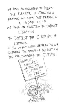 Page 16 of Neil Gaiman and Chris Riddell's book Art Matters. ART MATTERS by Neil Gaiman, illustrated by Chris Riddell is published by Headline on September Library Humor, Library Quotes, I Love Books, Good Books, Books To Read, George Orwell, Reading Quotes, Book Quotes, Book Memes