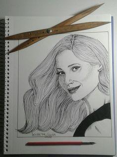 Desenho feito com bico de pena. @lierbethsousa_art Instagram