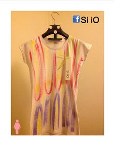 t-shirt Si iO Donna Mod. SLIM dipinta a mano