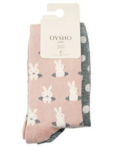 Oysho Spot & Bunny 2 Pack Socks