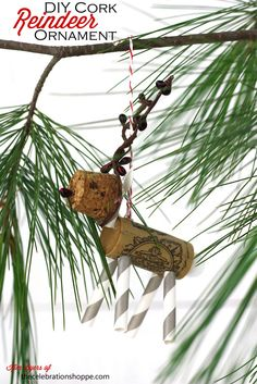 DIY Wine Cork Reindeer Ornament | TheCelebrationShoppe.com