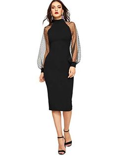 Jacquard Mesh Raglan Sleeve Pencil Dress - Jacquard Mesh Raglan Sleeve Pencil Dress – Chicgirlie You are in the right place about outfits dep - Dress Outfits, Fashion Dresses, Fashion Clothes, Dress Clothes, Sheath Dress, Bodycon Dress, Vetement Fashion, Natural Clothing, Vestidos Vintage