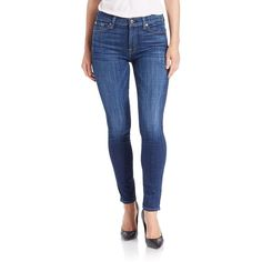 7 For All Mankind Dark Ankle Skinny Jeans- ($189) ❤ liked on Polyvore featuring jeans, dark wash, blue skinny jeans, 7 for all mankind, zipper jeans, blue jeans and 7 for all mankind jeans