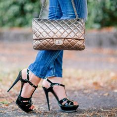 Outfit: Yves Saint Laurent Tribute Sandals