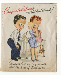 https://flic.kr/p/9Sz5t7 | Vintage Greeting Card c1946-1947 | Purchased card at estate sale - little girl born 10/22/47 Please inform me if you discover that this image is not in public domain. Refer to this sets' main page for terms or use, or goto the collections' main page. R & D, T-232, USA - no copyright