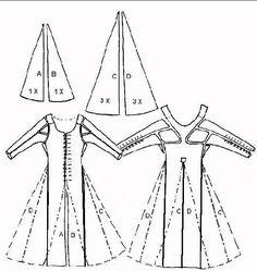 """Mittelalterliche Schnitte so originalgetreu wie möglich nacharbeiten kann zu einem echten Abenteuer werden. So eins erlebte ich mit dem """"Moy Bog""""-Kleid – einem textilen Fund aus d…"""