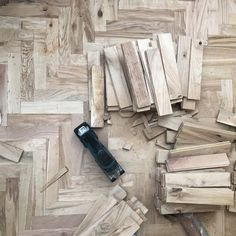"""""""Here's a sneak peek at the beautiful parquet flooring by which is being installed in our brand new Sebastian Cox Kitchen display in…"""" Devol Kitchens, Kitchen Display, Parquet Flooring, Herringbone Pattern, Plank, Color Inspiration, Rustic, Instagram Posts, Projects"""