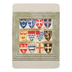 Decorative Heraldry Pattern Receiving Blanket - diy cyo customize unique special