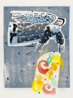 Good Things Coming Down - Woodcut & Linocut by Holly Meade 2012