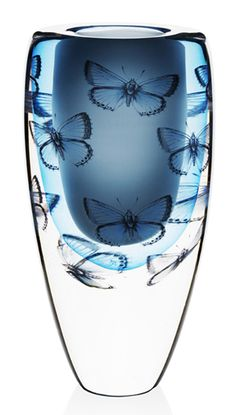 Cathrine Maske: Blue Wing Butterfly Vase